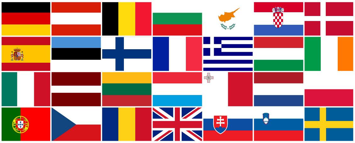 Le drapeau aux 28 étoiles